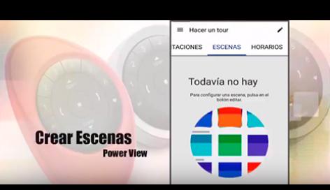 Crear escenas personalizadas con la App PowerView™