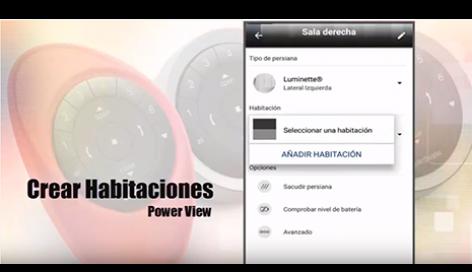 Crear habitaciones con la App PowerView™