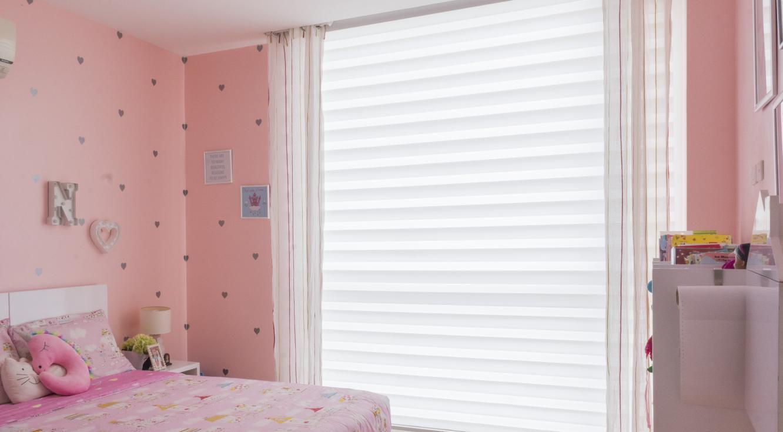 Dormitorio de niña - Cortinas Twinline <sup>™</sup>